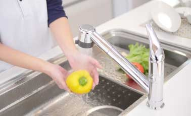 ミラブルキッチンを使って洗えば